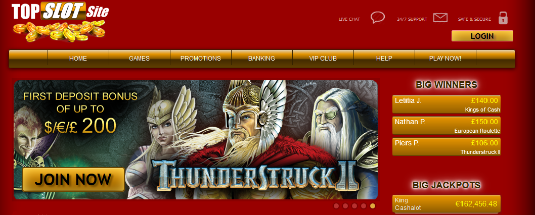 thunderstruck topSlotSite screen splash