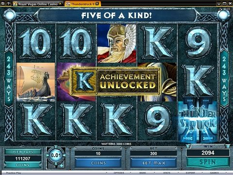 Bonuses on ThunderStruck 2 Slot Machine