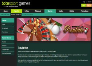 Play Roulette at Totesport Games