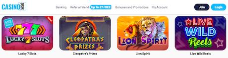 free spins bonus casino 2020